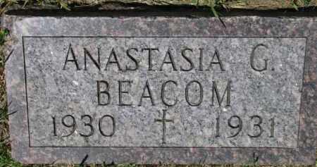BEACOM, ANASTASIA G. - Dixon County, Nebraska   ANASTASIA G. BEACOM - Nebraska Gravestone Photos