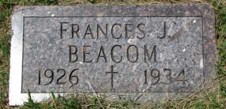BEACOM, FRANCES J. - Dixon County, Nebraska   FRANCES J. BEACOM - Nebraska Gravestone Photos