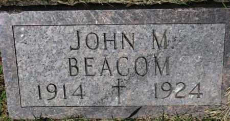 BEACOM, JOHN M. - Dixon County, Nebraska   JOHN M. BEACOM - Nebraska Gravestone Photos