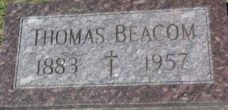 BEACOM, THOMAS - Dixon County, Nebraska | THOMAS BEACOM - Nebraska Gravestone Photos