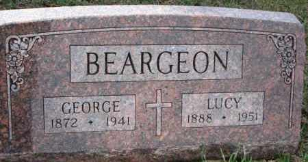 BEARGEON, LUCY - Dixon County, Nebraska | LUCY BEARGEON - Nebraska Gravestone Photos