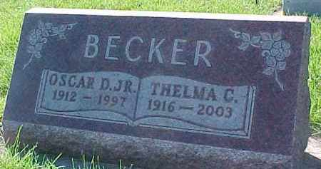 BECKER, OSCAR D. JR - Dixon County, Nebraska | OSCAR D. JR BECKER - Nebraska Gravestone Photos