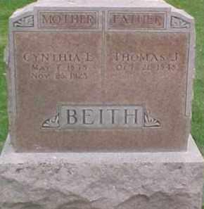 BEITH, CYNTHIA L. - Dixon County, Nebraska | CYNTHIA L. BEITH - Nebraska Gravestone Photos