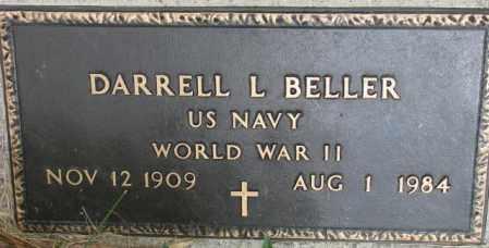 BELLER, DARRELL L. (WW II MARKER) - Dixon County, Nebraska | DARRELL L. (WW II MARKER) BELLER - Nebraska Gravestone Photos