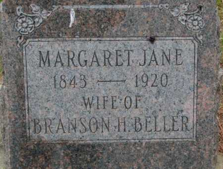 BELLER, MARGARET JANE - Dixon County, Nebraska | MARGARET JANE BELLER - Nebraska Gravestone Photos