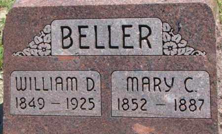 BELLER, WILLIAM D. - Dixon County, Nebraska | WILLIAM D. BELLER - Nebraska Gravestone Photos