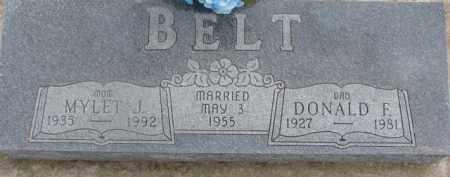 BELT, MYLET J. - Dixon County, Nebraska | MYLET J. BELT - Nebraska Gravestone Photos