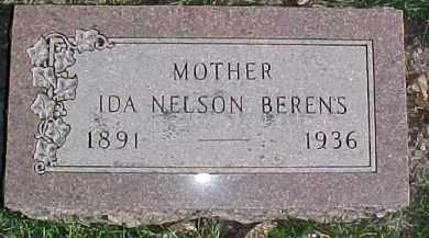 NELSON BERENS, IDA - Dixon County, Nebraska | IDA NELSON BERENS - Nebraska Gravestone Photos
