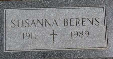 BERENS, SUSANNA - Dixon County, Nebraska | SUSANNA BERENS - Nebraska Gravestone Photos