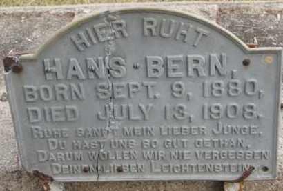 BERN, HANS - Dixon County, Nebraska | HANS BERN - Nebraska Gravestone Photos