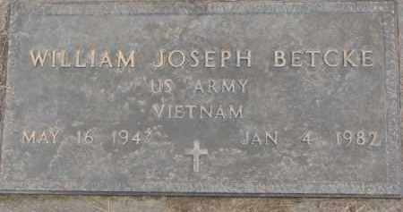 BETCKE, WILLIAM J. (MILITARY MARKER) - Dixon County, Nebraska | WILLIAM J. (MILITARY MARKER) BETCKE - Nebraska Gravestone Photos