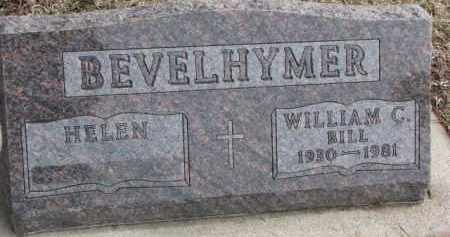 "BEVELHYMER, WILLIAM C. ""BILL"" - Dixon County, Nebraska | WILLIAM C. ""BILL"" BEVELHYMER - Nebraska Gravestone Photos"