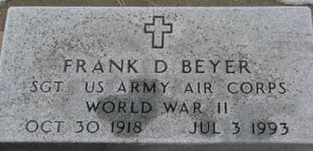 BEYER, FRANK D. - Dixon County, Nebraska   FRANK D. BEYER - Nebraska Gravestone Photos