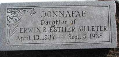 BILLETER, DONNAFAE - Dixon County, Nebraska   DONNAFAE BILLETER - Nebraska Gravestone Photos