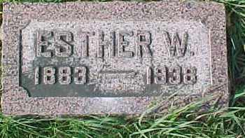 BJORKLUND, ESTHER W. - Dixon County, Nebraska | ESTHER W. BJORKLUND - Nebraska Gravestone Photos