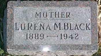 BLACK, LURENA M. - Dixon County, Nebraska | LURENA M. BLACK - Nebraska Gravestone Photos