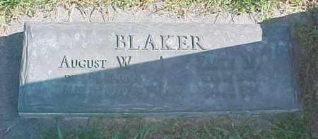 BLAKER, AUGUST W. - Dixon County, Nebraska | AUGUST W. BLAKER - Nebraska Gravestone Photos
