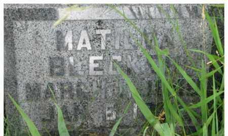 BLECKER, MATILDA - Dixon County, Nebraska   MATILDA BLECKER - Nebraska Gravestone Photos
