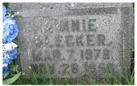 BLECKER, MINNIE - Dixon County, Nebraska | MINNIE BLECKER - Nebraska Gravestone Photos