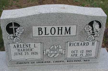 BLOHN, RICHARD H. - Dixon County, Nebraska | RICHARD H. BLOHN - Nebraska Gravestone Photos