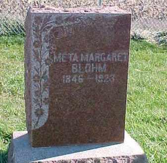 BLOHM, META MARGARET - Dixon County, Nebraska | META MARGARET BLOHM - Nebraska Gravestone Photos