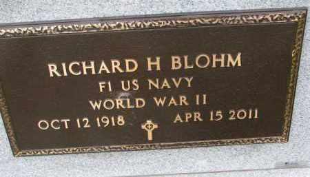 BLOHM, RICHARD H. (WW II) - Dixon County, Nebraska | RICHARD H. (WW II) BLOHM - Nebraska Gravestone Photos
