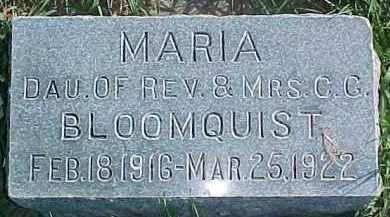 BLOOMQUIST, MARIA ROSELA - Dixon County, Nebraska   MARIA ROSELA BLOOMQUIST - Nebraska Gravestone Photos