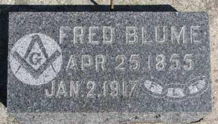 BLUME, FRED - Dixon County, Nebraska   FRED BLUME - Nebraska Gravestone Photos