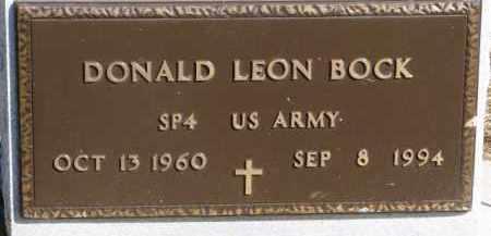 BOCK, DONALD LEON (MILITARY MARKER) - Dixon County, Nebraska   DONALD LEON (MILITARY MARKER) BOCK - Nebraska Gravestone Photos
