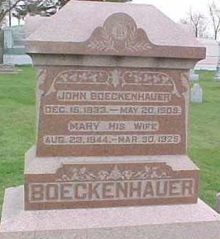 BOECKENHAUER, JOHN - Dixon County, Nebraska | JOHN BOECKENHAUER - Nebraska Gravestone Photos