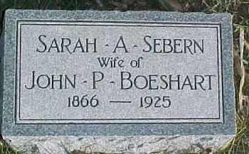 BOESHART, SARAH A. - Dixon County, Nebraska | SARAH A. BOESHART - Nebraska Gravestone Photos