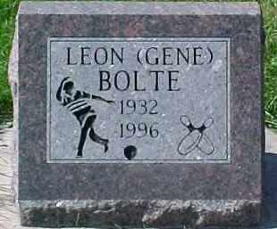 BOLTE, LEON - Dixon County, Nebraska | LEON BOLTE - Nebraska Gravestone Photos