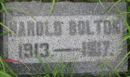 BOLTON, HAROLD - Dixon County, Nebraska | HAROLD BOLTON - Nebraska Gravestone Photos