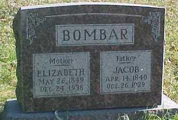 BOMBAR, ELIZABETH - Dixon County, Nebraska | ELIZABETH BOMBAR - Nebraska Gravestone Photos