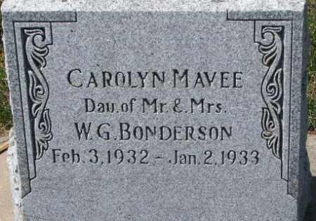 BONDERSON, CAROLYN MAVEE - Dixon County, Nebraska | CAROLYN MAVEE BONDERSON - Nebraska Gravestone Photos