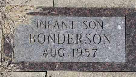 BONDERSON, INFANT - Dixon County, Nebraska   INFANT BONDERSON - Nebraska Gravestone Photos