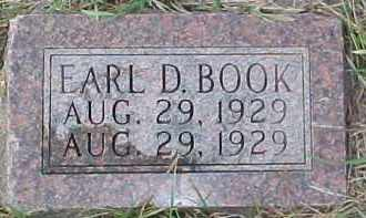 BOOK, EARL D. - Dixon County, Nebraska | EARL D. BOOK - Nebraska Gravestone Photos