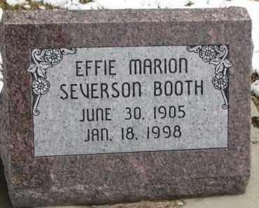 SEVERSON BOOTH, EFFIE MARION - Dixon County, Nebraska | EFFIE MARION SEVERSON BOOTH - Nebraska Gravestone Photos