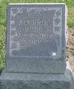 BORG, ALFRIDA - Dixon County, Nebraska | ALFRIDA BORG - Nebraska Gravestone Photos