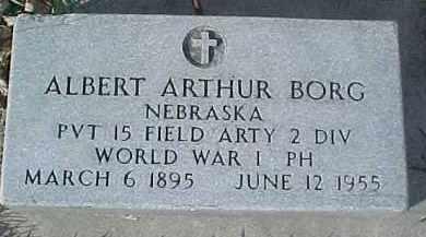 BORG, ALBERT ARTHUR - Dixon County, Nebraska   ALBERT ARTHUR BORG - Nebraska Gravestone Photos