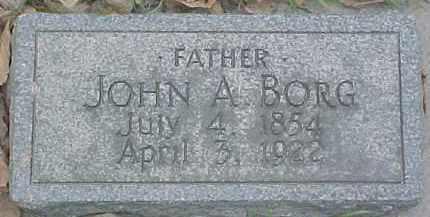 BORG, JOHN A. - Dixon County, Nebraska | JOHN A. BORG - Nebraska Gravestone Photos