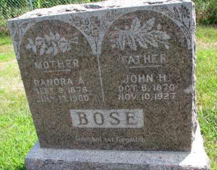 BOSE, JOHN H. - Dixon County, Nebraska | JOHN H. BOSE - Nebraska Gravestone Photos
