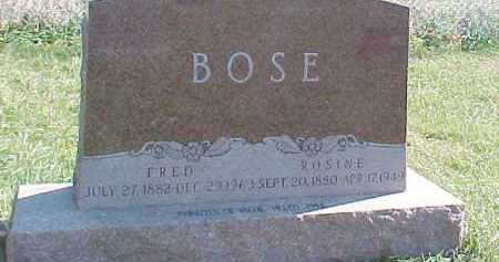 BOSE, FRED - Dixon County, Nebraska | FRED BOSE - Nebraska Gravestone Photos