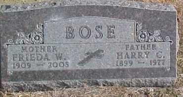 BOSE, FRIEDA W. - Dixon County, Nebraska | FRIEDA W. BOSE - Nebraska Gravestone Photos