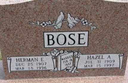 BOSE, HERMAN E. - Dixon County, Nebraska | HERMAN E. BOSE - Nebraska Gravestone Photos