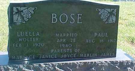 BOSE, LUELLA - Dixon County, Nebraska | LUELLA BOSE - Nebraska Gravestone Photos