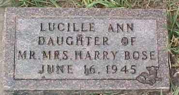BOSE, LUCILLE ANN - Dixon County, Nebraska | LUCILLE ANN BOSE - Nebraska Gravestone Photos