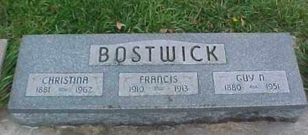 BOSTWICK, CHRISTINA - Dixon County, Nebraska   CHRISTINA BOSTWICK - Nebraska Gravestone Photos