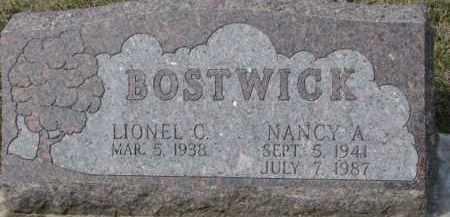 BOSTWICK, LIONEL C. - Dixon County, Nebraska | LIONEL C. BOSTWICK - Nebraska Gravestone Photos