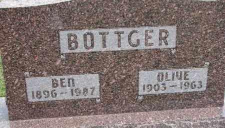 BOTTGER, OLIVE - Dixon County, Nebraska | OLIVE BOTTGER - Nebraska Gravestone Photos
